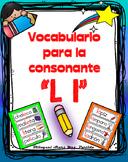 Vocabulario de la letra L l consonante Ll Bilingual Stars Mrs. Partida