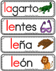 Vocabulario de la letra L l consonante Ll Bilingual Stars
