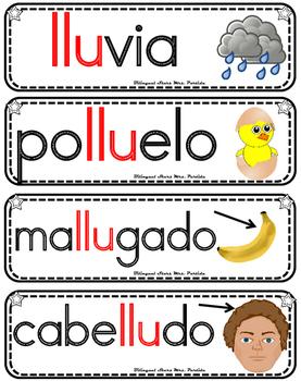Vocabulario de la letra Ll consonante Ll ll Bilingual Stars Mrs. Partida