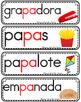 Vocabulario de la letra P p consonante Pp Bilingual Stars