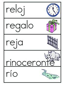 Vocabulario de la letra R