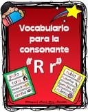 Vocabulario de la letra Rr consonante R r Bilingual Stars Mrs. Partida