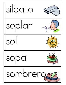 Vocabulario de la letra S