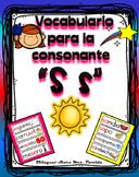 Vocabulario de la letra S s consonante Ss Bilingual Stars Mrs. Partida