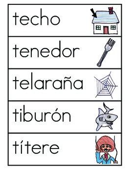 Vocabulario de la letra T