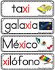 Vocabulario de la letra Xx consonante X x Bilingual Stars