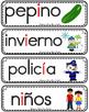 Vocabulario de la vocal I i  letra  Ii Bilingual Stars Mrs. Partida