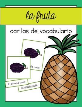 Vocabulario de las frutas / Fruit Vocab Matching Spanish