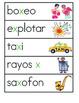Vocabulario de las letras W X