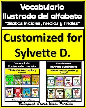 Vocabulario de las letras consonantes del abecedario Customized For Silvette D