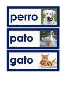 Vocabulario de los animales