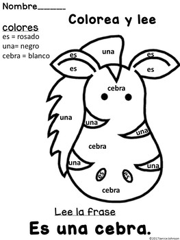Vocabulario de los animales del circo {Spanish circus animal vocabulary pages}