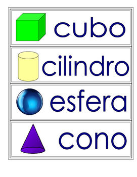 Vocabulario de los colores y las figuras.