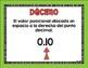 Vocabulario de los decimales (cuarto grado) / Decimal Vocabulary (4th Grade)
