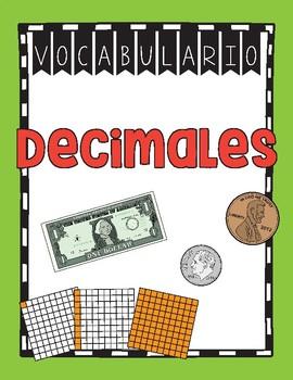 Vocabulario de los decimales (cuarto grado) / Decimal Vocabulary ...