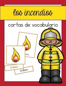 Vocabulario de los incendios / Fire Safety Vocab Matching Spanish