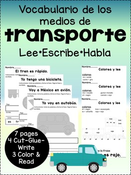Vocabulario de los medios de transporte {Spanish transportation vocab}
