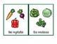 Vocabulario de los vegetales / Vegetable Vocab Matching Spanish
