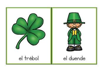 Vocabulario de marzo / March Vocab Matching Spanish