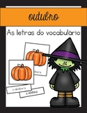 O vocabulário do outubro / October & Halloween Vocabulary Matching Portuguese