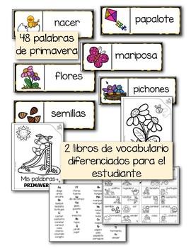 Vocabulario de primavera - Pared de palabras y mucho más