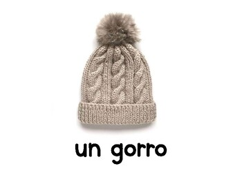 Vocabulario de ropa y complementos de invierno / Winter clothes in Spanish