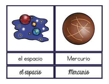 Vocabulario del espacio / Space Vocab Matching Spanish