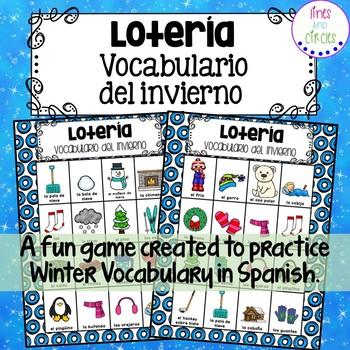 El invierno - Winter Vocabulary BINGO