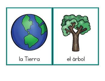 Vocabulario de abril / April Vocab Matching Spanish