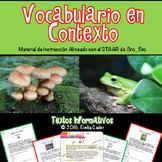 Vocabulario en Contexto~Material de Instrucción y Practica