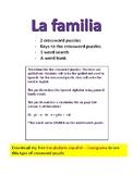 Vocabulario español - la familia - crucigrama