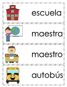 Vocabulario inicio de año escolar