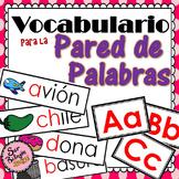 Vocabulario para la Pared de Palabras