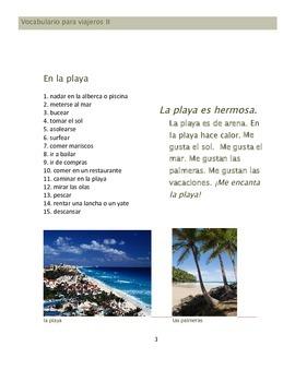 Vocabulario para viajeros II: El turismo, mapas y direcciones. Conversación 12