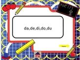 Vocabulario silabas da,de,di,do,du