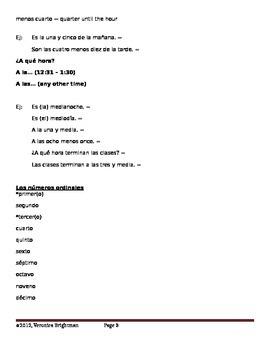 Vocabulario Útil - Levels 1 & 2