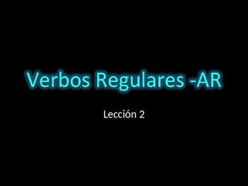 Vocabulario: verbos regulares -AR