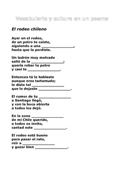 Vocabulario y cultura en un poema
