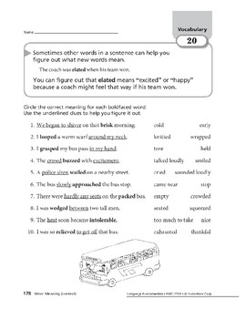 Vocabulary 08: Homonyms & Word Meanings (Context)