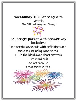 Vocabulary 102: Working with Words