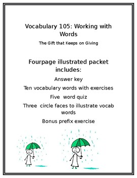 Vocabulary 105 Working with Words