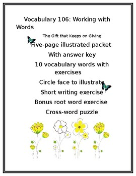 Vocabulary 106 Working with Words