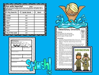 Dictionary Skills - Graphic Organizers, Games, and More!
