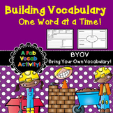Vocabulary - Graphic Organizers