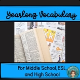 Vocabulary for Middle School English, ESL, and High School English