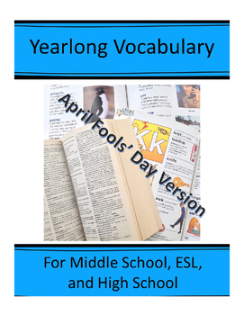 "April Fools Day Vocabulary, to be used with ""Yearlong Vocabulary for Middle..."""