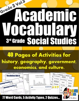 Vocabulary 303 Social Studies
