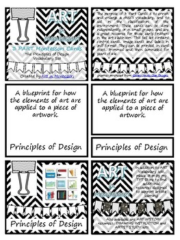 Vocabulary 3 Part Montessori Cards - Principles of Design