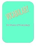 Vocabulary 30 weeks