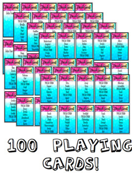 Vocabulary Review Game FOR ANY WORD LIST